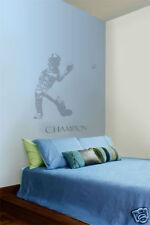 "Baseball Catcher Boys Room Sports Wall Art Decal Gray Vinyl Sticker 26"" x 34"""