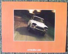CITROEN AMI CAR SALES BROCHURE SEPTEMBER 1973 REF- 9/73