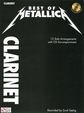 Metallica Best Of Clarinet Learn to Play Heavy Metal Rock Music Book & CD