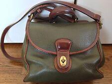 Vintage COACH Dark Green Pebbled Leather Satchel Tote Purse Handbag 0051 350
