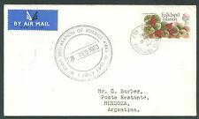 BRITISH FALKLAND ISLAND TO ARGENTINA Air Cover 1973