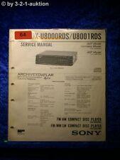Sony Service Manual CDX U8000RDS U8001RDS Autoradio (#0064)