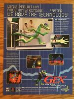 Gex: Enter the Gecko PS1 PSX Playstation 1 N64 PC 1998 Vintage Poster Ad Art