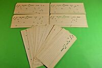 USSR Soviet Computer Mainframe Punch Card Perforated 1970s 10 pcs 3