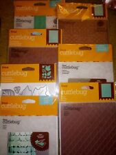 7 mixed Cricut Cuttlebug Cutting Dies and embossing folder Lot