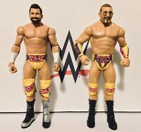 WWE HYPE BROS MOJO RAWLEY & RYDER FIGURES BASIC BATTLEPACK SERIES 48 MATTEL 2017