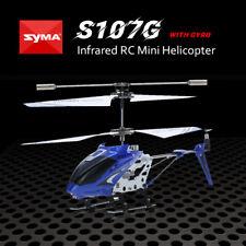 Syma S107G R/C infrarosso Elicottero DRONE Radiocomandato RC Helicopter Blu O0Z3