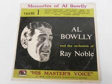 """AL BOWLLY - Memories of Al Bowlly - RARE 10"""" LP"""
