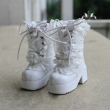 1/4 BJD MID Boots MSD Dollfie DREAM white leather Boots EID LUTS AOD DOD Shoes