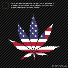 American Flag Weed Marijuana Leaf Sticker Self Adhesive 420 hemp Usa Us America