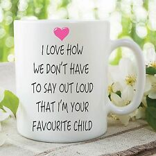 Humour Funny Novelty Mug Favourite Child Joke Kitchen Cup Work Gift WSDMUG265