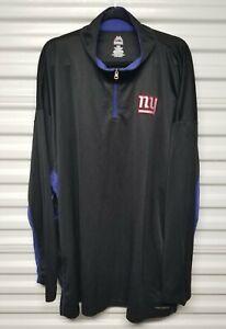 New York Giants NFL Majestic Pull Over Quarter Zip Cool Base Jacket Mens 5XL