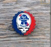 "Grateful Dead Pin Skull Lightning Logo 1.25/"" Enamel Basic Stud Back 69"