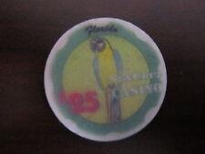 $25 Sun Cruz Casino Florida Gaming Poker Chip SunCruz Cruise Green & Yel Parrot