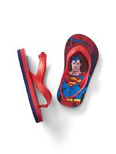 Gap Baby / Toddler Boys Size 5T / 6T Red Blue Superman Flip Flops Sandals Shoes