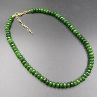 Edle Smaragd Halskette Collier Kette 45cm Neu b-020
