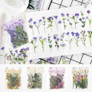 40Pcs Washi Paper Sticker Cute Floral Album Diary DIY Decor Scrapbooking Sticker