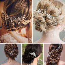 Épingles cheveux fleurs mariage peigne mariée perles cristal or accessoires SH