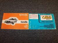 1980 Toyota Corolla Sedan Original Owner Owner's Operator Guide Manual Set 1.3L
