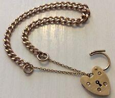 Superbe Femmes Antique Rosey 9 CT Bracelet En Or & Or jaune 9 ct Cadenas
