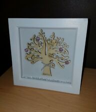 Personalised Family Tree Box Frame/ Picture/ Mothers Day Gift