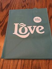 Whole Foods Reusable Bags Shopping Bag. Large Light Blue Love Bag.