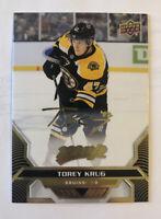 Torey Krug 2020-21 Upper Deck MVP Hockey GOLD Script  #118 Boston Bruins