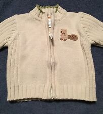Gymboree Busy Beaver Boys Sweater Jacket Size 3-6 Months