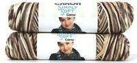 2 Count Caron 4 Oz Simply Soft Camo 11503 Woodland Camo Polyester 4 Medium Yarn