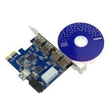 5 Ports PCI-E PCI Express Card to USB 3.0+19 Pin Connector 4 Pin Adapter