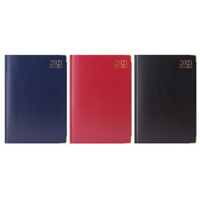 2021 A4 Day A Page Diary Padded Front & Hardback Cover Gilt Edges New