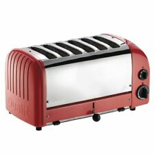 More details for dualit vario 60154 6 slice toaster in red with adjustable inner wire - 230 v