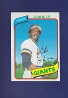 Vida Blue 1980 TOPPS Baseball #30 (NM) San Francisco Giants