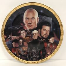 Star Trek Tng Hamilton Collection Plate The Best of Both Worlds Complete Coa