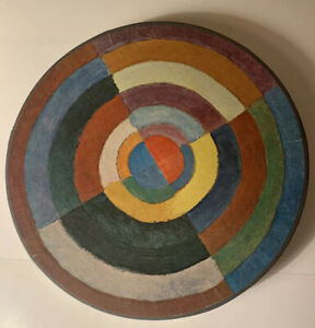 Complete 500 Piece Collectible Round Springbok Puzzle. Op Art.