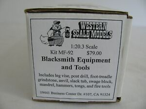 Western Scale Models Diecast 1/20.3 G Scale Blacksmith Equipment & Tools #MF-92