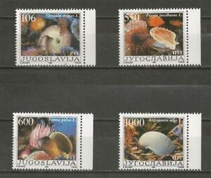 YUGOSLAVIA -1988 Marine Life - Molluscs -  MINT UNHINGED COMPLETE SET.
