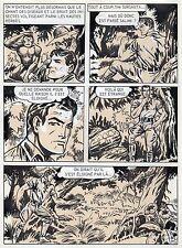 BOB LEGUAY METAMORPHOSE PLANCHE ORIGINALE TIM L'AUDACE ANNEES 1950 PAGE 16
