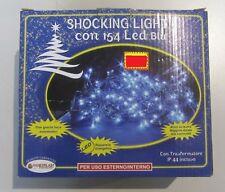154 SHOCKING LUMIÈRE LED BLEU AVEC JEUX AUTOMATIQUES IP44 X EXTERNE CÂBLE 12 MT