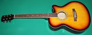 """Gitarre Elektroakustik NEW ORLEANS Sb - Flat EQ-4B 40 """""""