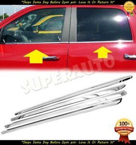 For 2009 2010-2018 DODGE RAM 1500 Crew+Mega Cab Stainless Chrome Window Sill