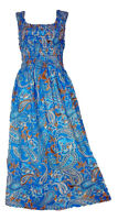 100% Cotton Long Boho Maxi Dress Party Evening Size 14 16 18 20 22 24 April