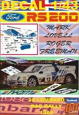 DECAL 1/43 FORD RS200 M.LOVELL RAC R. 1986 DnF (03)