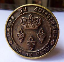 RARE cachet sceau COMMISSION DU SCEAU Roi Louis 18 Louis-Philippe 1814-1830 lis