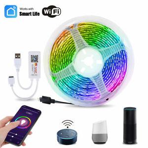 Led Strip Light RGB 5050 5V Flexible USB TUYA WiFi Phone Control TV Backlight