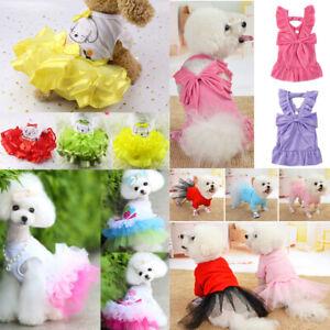 Summer Pet Cat Puppy Small Dog Dress Skirt Vest T shirt Pet Dog Clothes Apparel