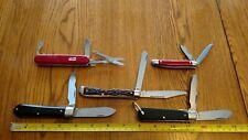Vintage USA Pocket Knife LOT Colonial SABRE USA all MINT Trapper Jack Linesman