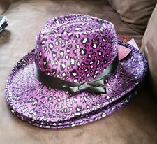 Local Pick up only Adult purple animal print disco pimp gangster costume Hat