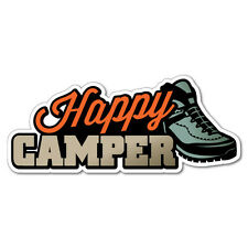 Happy Camper Outdoor Adventure 4x4 Caravan Sticker  #7426EN