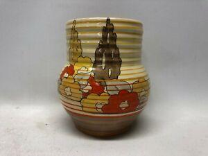 """Clarice Cliff Bizarre vase """" Capri Design """" C1935"""